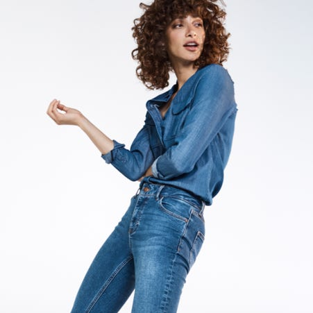 Women's denim clothing